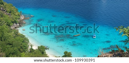 Beauty beach of Similan Islands like a paradise