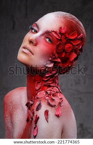 Beauty. Beautiful girl with great makeup - stock photo