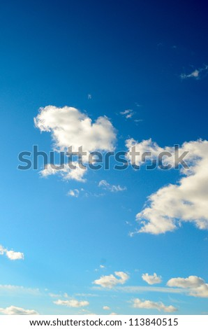 beauty blue sky (series) - stock photo