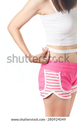 Beauty body care and diet - stock photo