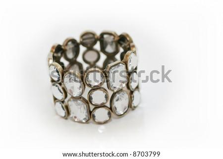 Beauty bracelet isolated on white - stock photo