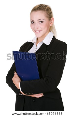 beauty business woman over white background