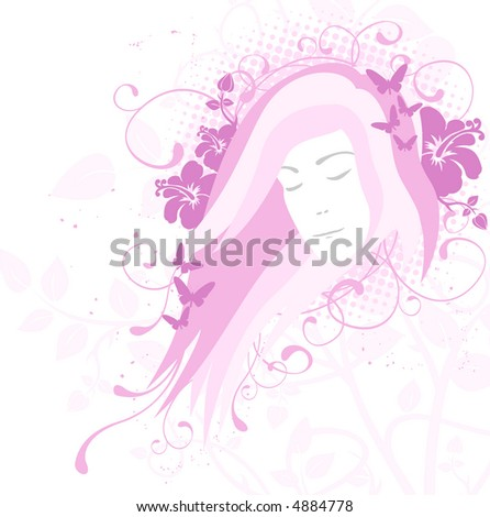 Beauty concept, pink (vector format also available in my gallery)