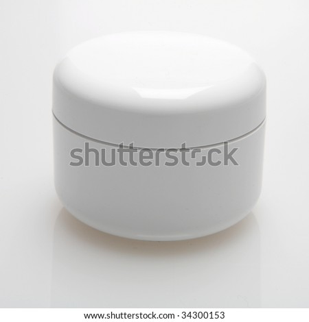 beauty cream box - stock photo