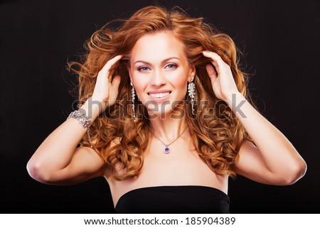Beauty Fashion Model Girl. Beautiful Woman with Luxury accessories - stock photo