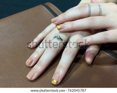Beauty Fashion Woman Nails Natural Beige Stock Photo (Royalty Free ...