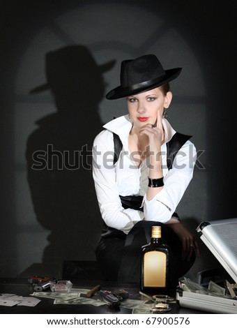 Beauty Gangster - stock photo