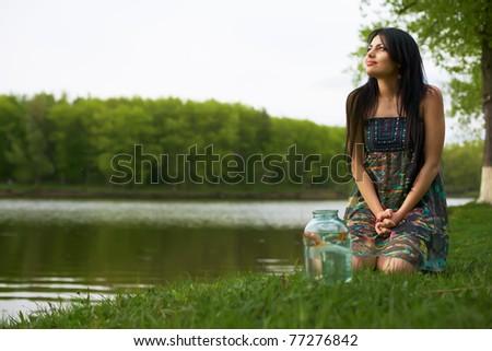 beauty girl - stock photo