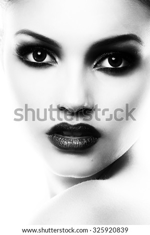 Beauty Girl. Beautiful Young Woman with Fresh Clean Skin, Beautiful Face. Pure Natural Beauty. Perfect Skin. Portrait of Beauty Girl. Youth and Skin Care Concept. - stock photo