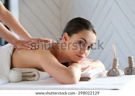 Beauty. Girl in the spa salon