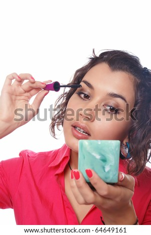 One Fat Girl Holding Chocolate Glass Stock Photo 38714338