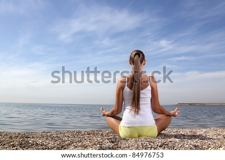 beauty girl on beach