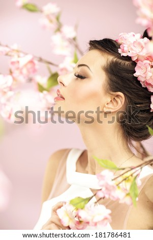 Beauty Girl With Flowers