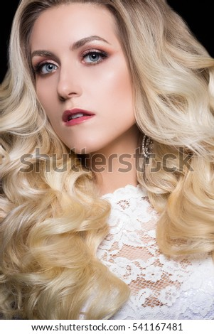 Beauty Hairstyle Blond  Bride