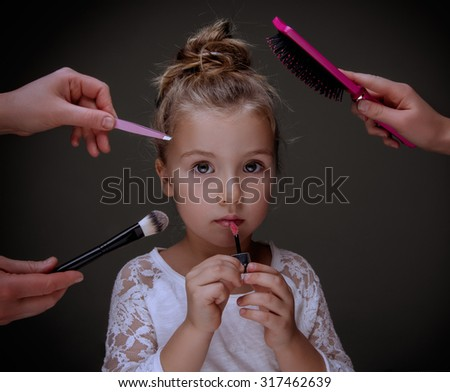 beauty industrie beginning with the smallest - stock photo