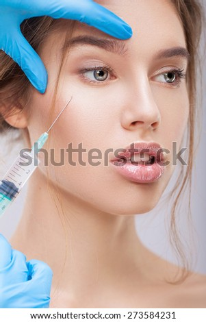 Beauty injection - stock photo