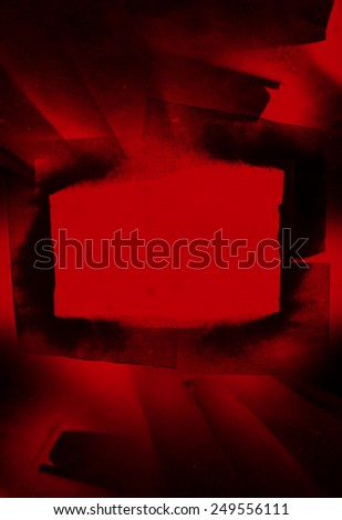 beauty inky red frame - stock photo