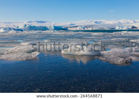 Beauty Jokulsarlon lake iceberg lagoon Southeast of Iceland