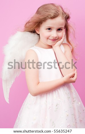 Beauty little Angel - stock photo