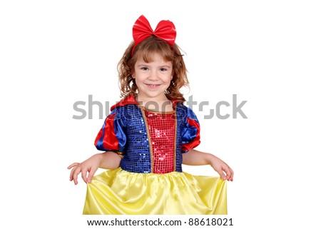 beauty little girl snow white - stock photo