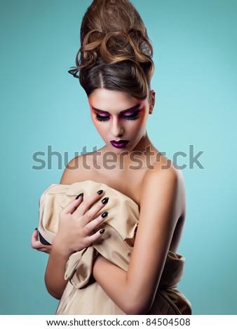 beauty make up - stock photo