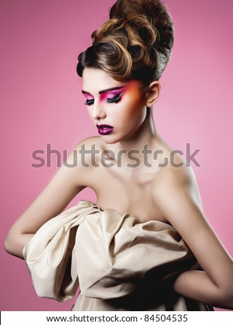 beauty make up - stock photo