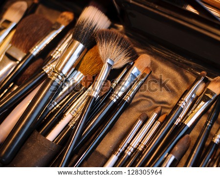 Beauty make-up brushes