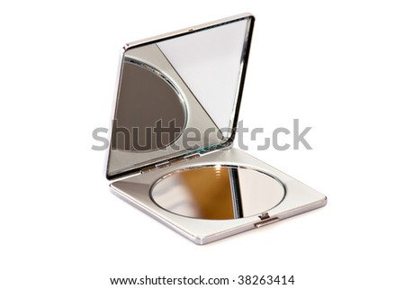Beauty mirror on white background