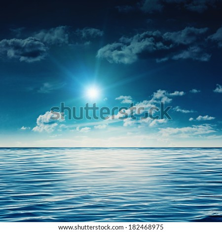 Beauty noon on the summer sea, abstract natural backgrounds - stock photo