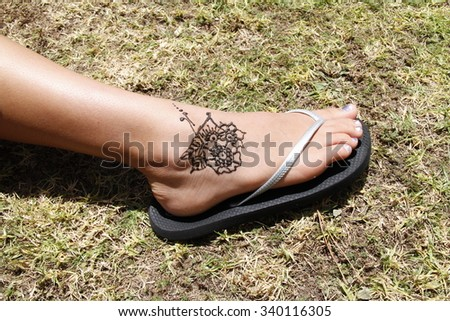 Beauty of leg - stock photo