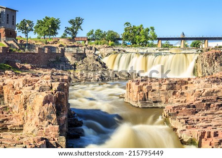 Beauty of nature in Sioux Falls, South Dakota, USA - stock photo