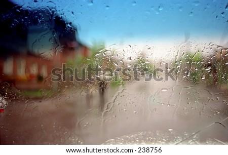 Beauty of raining day - stock photo