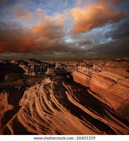 Beauty of Red Rock park - stock photo