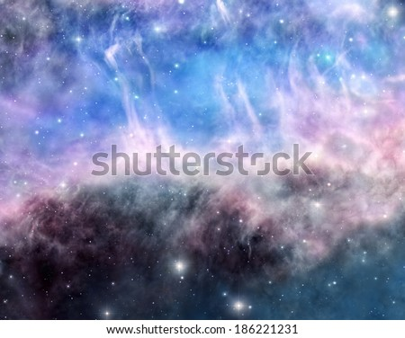 Beauty of space - stock photo
