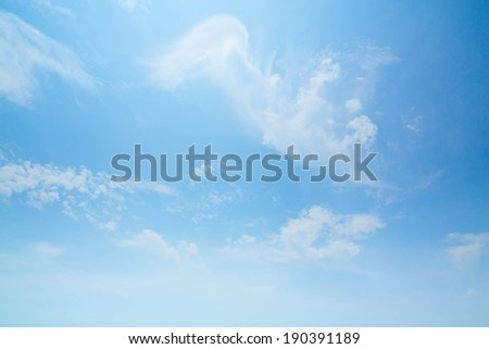 beauty peaceful sky with white clouds great as background - stock photo