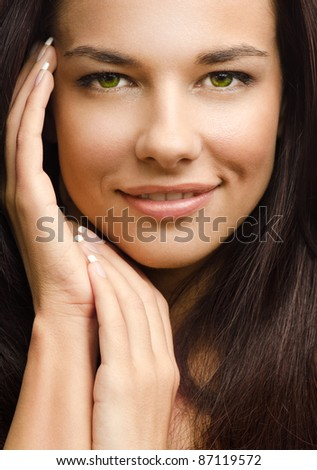 Beauty photo of a Caucasian woman - stock photo