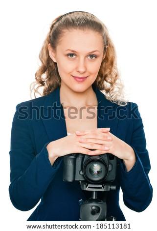 beauty photographer - stock photo