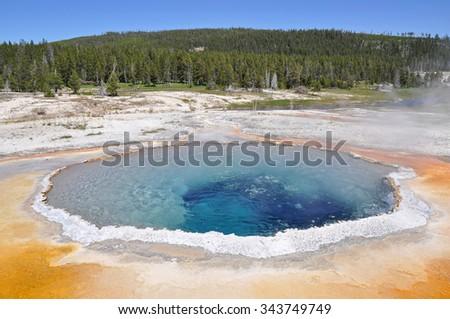 Beauty Pool - Yellowstone National Park, Wyoming - stock photo