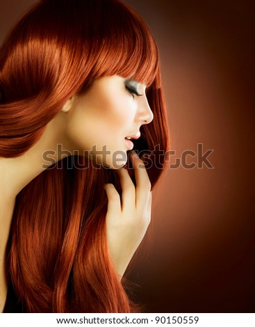 Beauty Portrait.Healthy Hair - stock photo