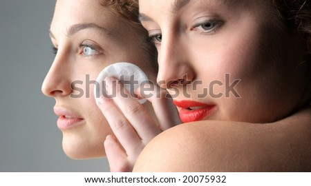 beauty portrait of a beautiful woman - stock photo