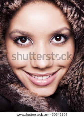 Beauty portrait of a female model - stock photo