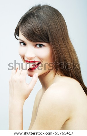 beauty portrait of a young sexy woman - stock photo