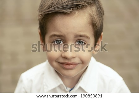 Beauty portrait of small happy boy