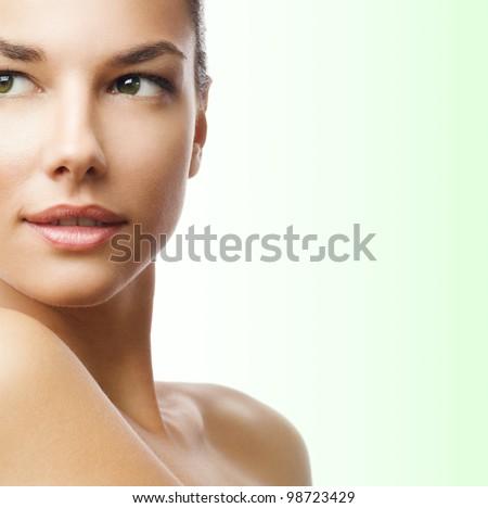 Beauty portrait - part of face - stock photo