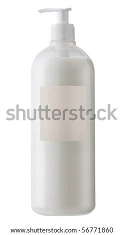 Beauty product isolated with blank label for logo or text.