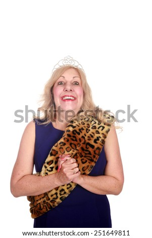 Beauty Queen. isolated on white with room for your text - stock photo