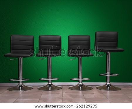 beauty salon chairs closeup - stock photo