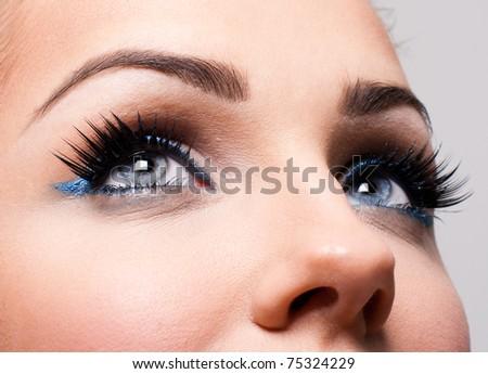Beauty shot of a beautiful woman - stock photo