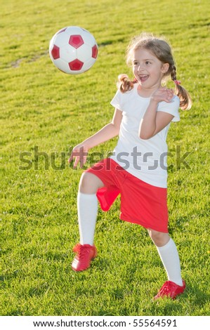 Beauty soccer player - stock photo