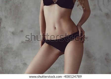 Beauty, spa. Woman with beautiful body